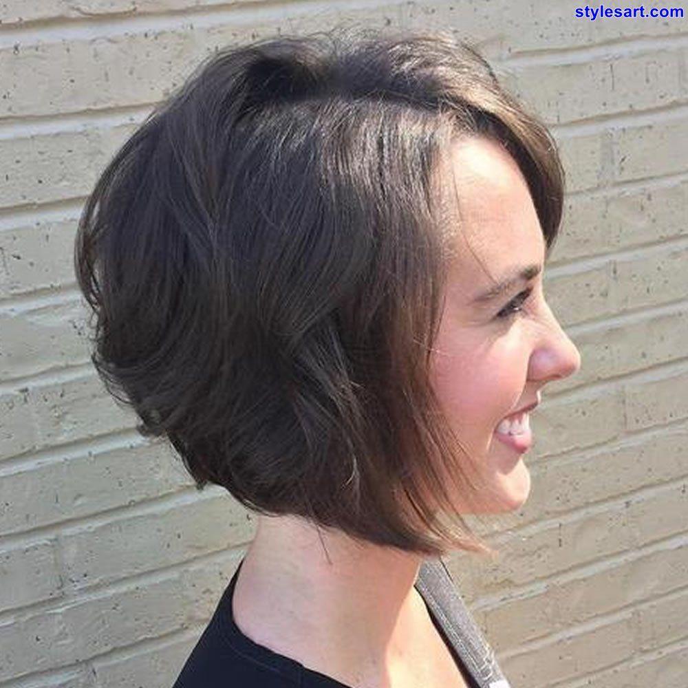 Cooler Abgewinkelter Kurzer Bob Und Lange Frisuren Für Feines Haar
