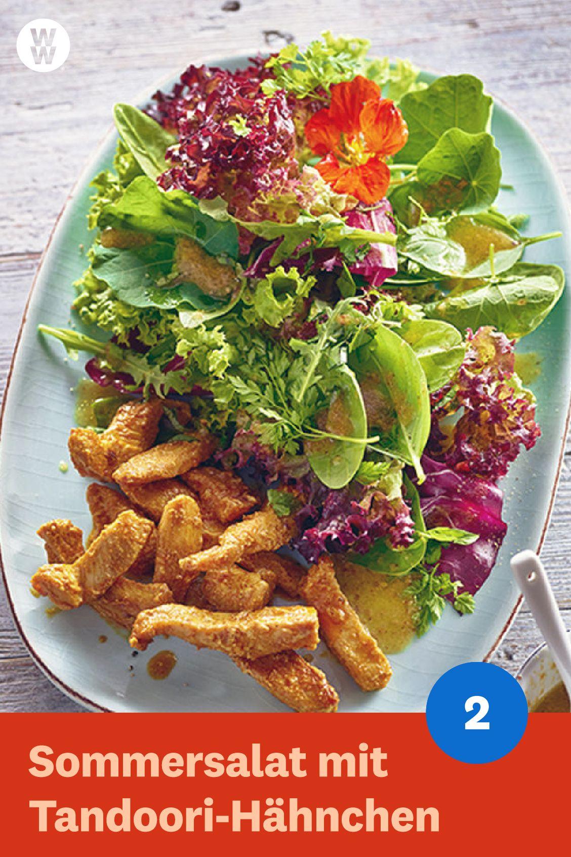 Wilder Sommersalat mit Tandoori-Hähnchen by Andi Schweiger #chinesemeals