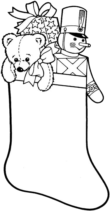 christmas stocking coloring pages 2 purple kitty - Christmas Stockings Coloring Pages 2