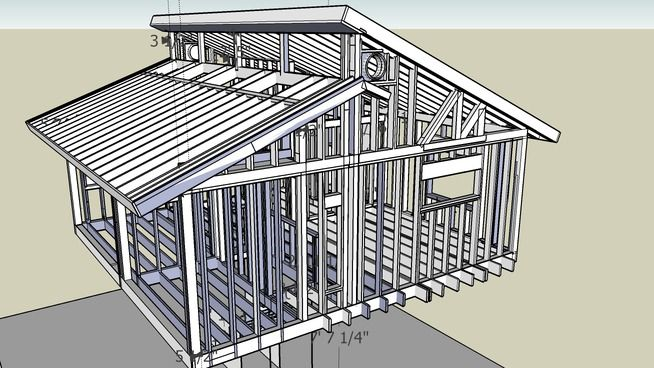 House Frame: Incomplete Clerestory - 3D Warehouse