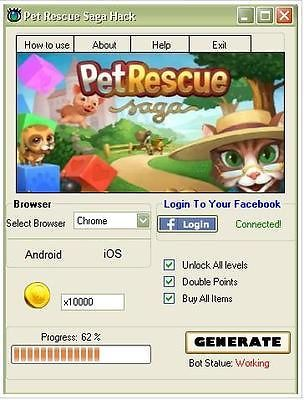 Pet Rescue Saga Hack Free Lives Unlock All Levels Pet Rescue Ebay Pet Rescue Saga Animal Rescue Rescue