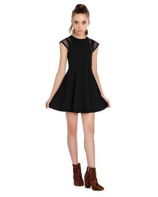 Sally Miller Girls' Willow Fit-and-Flare Cutout Dress - Big Kid - Black #sallymiller