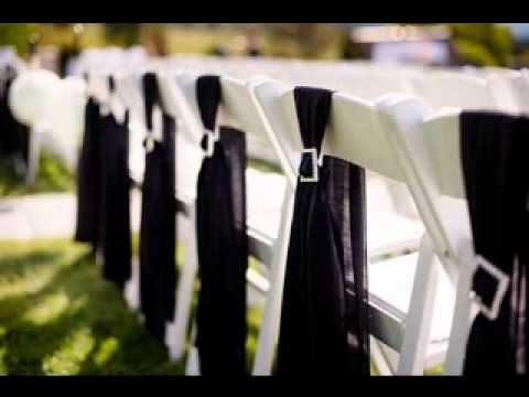DIY Simple Wedding Chair Decorations