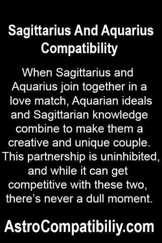 Good Sagittarius Are Match And Aquarius A