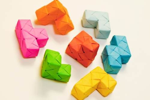 Soma Cube 2 Tetris Origami Blocks Are Outstanding Origami And