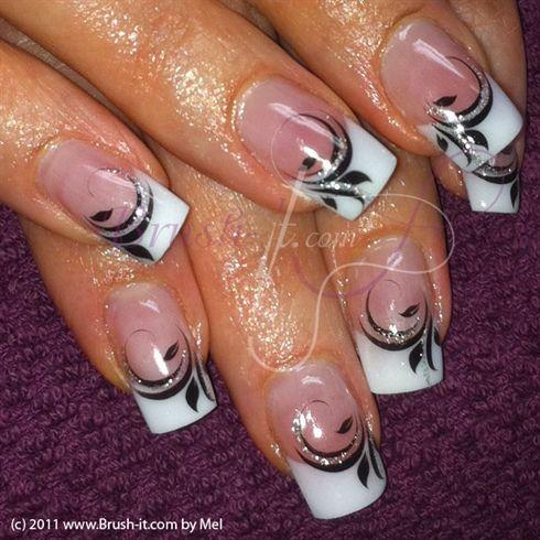 Black & White by Passionail - Nail Art Gallery nailartgallery.nailsmag.com by Nails Magazine www.nailsmag.com #nailart