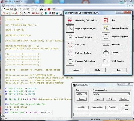 EditCNC G code editor includes many powerful features