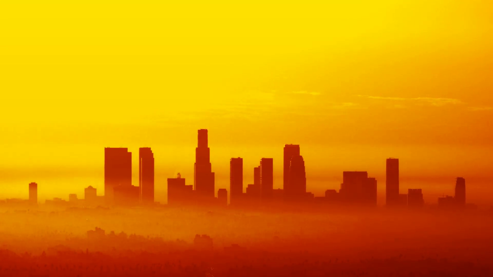 Stylized Los Angeles Skyline Time Lapse Stock Video Footage Storyblocks Video Los Angeles Skyline Skyline Los Angeles