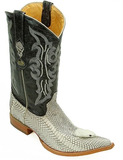 62adb846076 Python Boot with Cobra head, Deer Shaft with stitching detailing ...