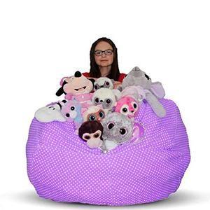 Fantastic Kroco Stuffed Animal Storage Bean Bag Chair Bean Bag Squirreltailoven Fun Painted Chair Ideas Images Squirreltailovenorg