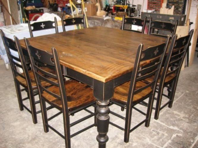 Pingl par natalie doucet sur d coration cuisine pinterest vieux bois tables de cuisine et for Table en bois de cuisine