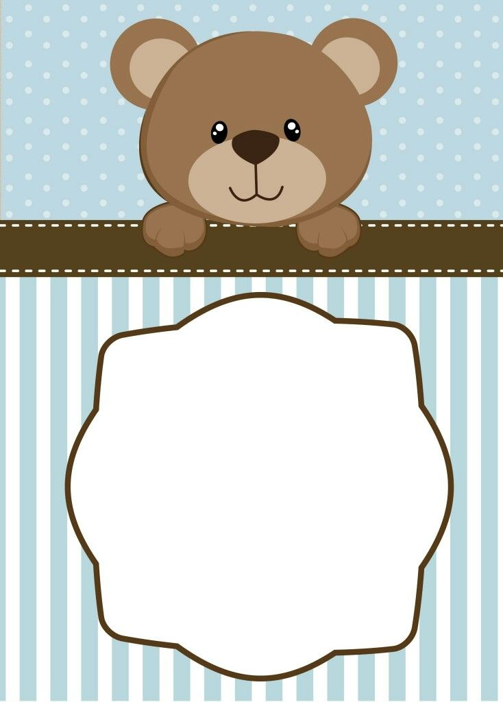 Teddy bear boy invite or print for banner Baby Shower Ideas