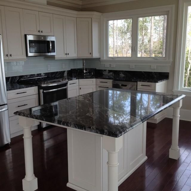 Arabian Nights granite with white cabinets | Dream House: Kitchen ...