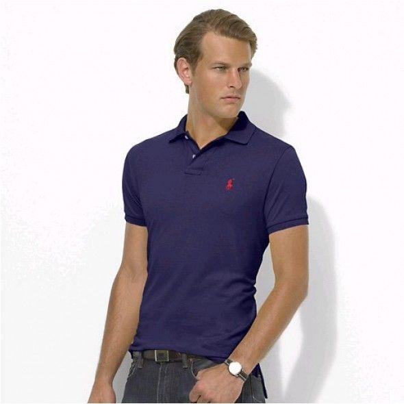 Polo Men Ralph Lauren Stickup Darkblue Red Custom-Fit Mesh http://www