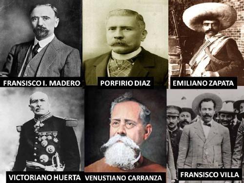 Personas de la revolución México