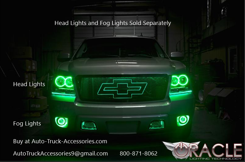 2007 To 2014 Chevy Plasma Oracle Halo Foglights Complete Assembly Stainlesssteelaccessories Autoaccessories Truck Custom Trucks Chevy Trucks Custom Baggers