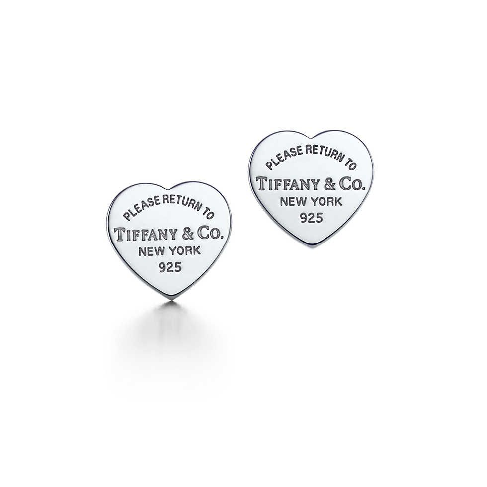 Return To Tiffany Co Heart Tag Earrings In Sterling Silver These Are The I Wear My Bottom Hole And A Diamond Stud Second