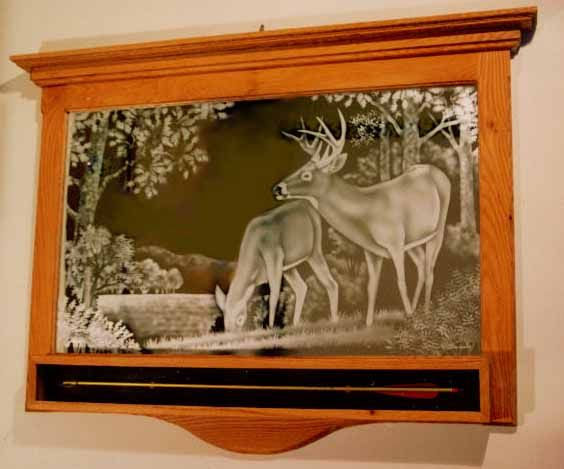 mirror etched decal deer click here to see more table