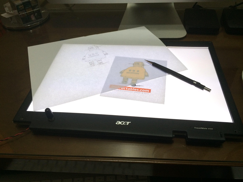 Turn A Broken Laptop Screen Into A Portable Light Table