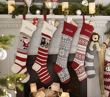 Natural Fair Isle Stocking Collection Christmas