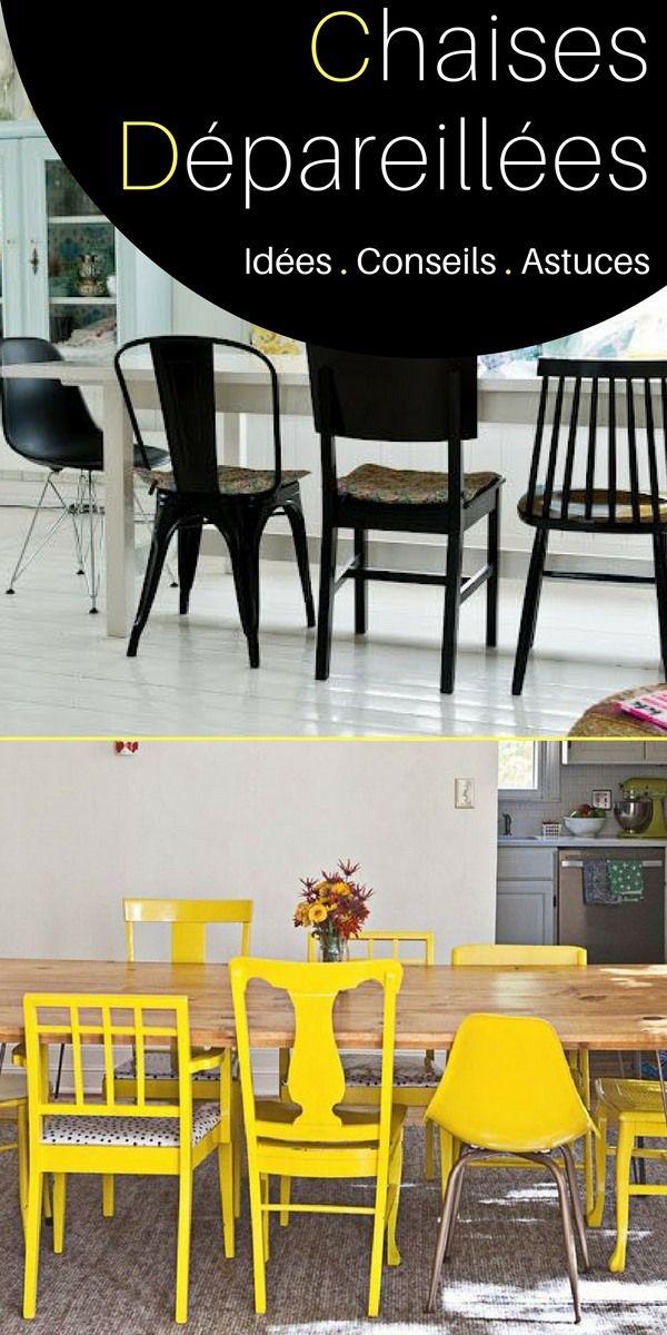 Chaises Dépareillées Idées Pour Les Assortir Astuces En - Table et chaises depareillees pour idees de deco de cuisine
