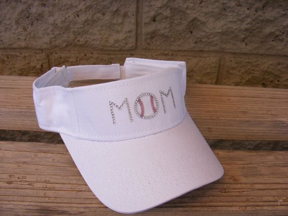 6c50fe8b0f0 Baseball Mom Visor by CapsbyKari on Etsy