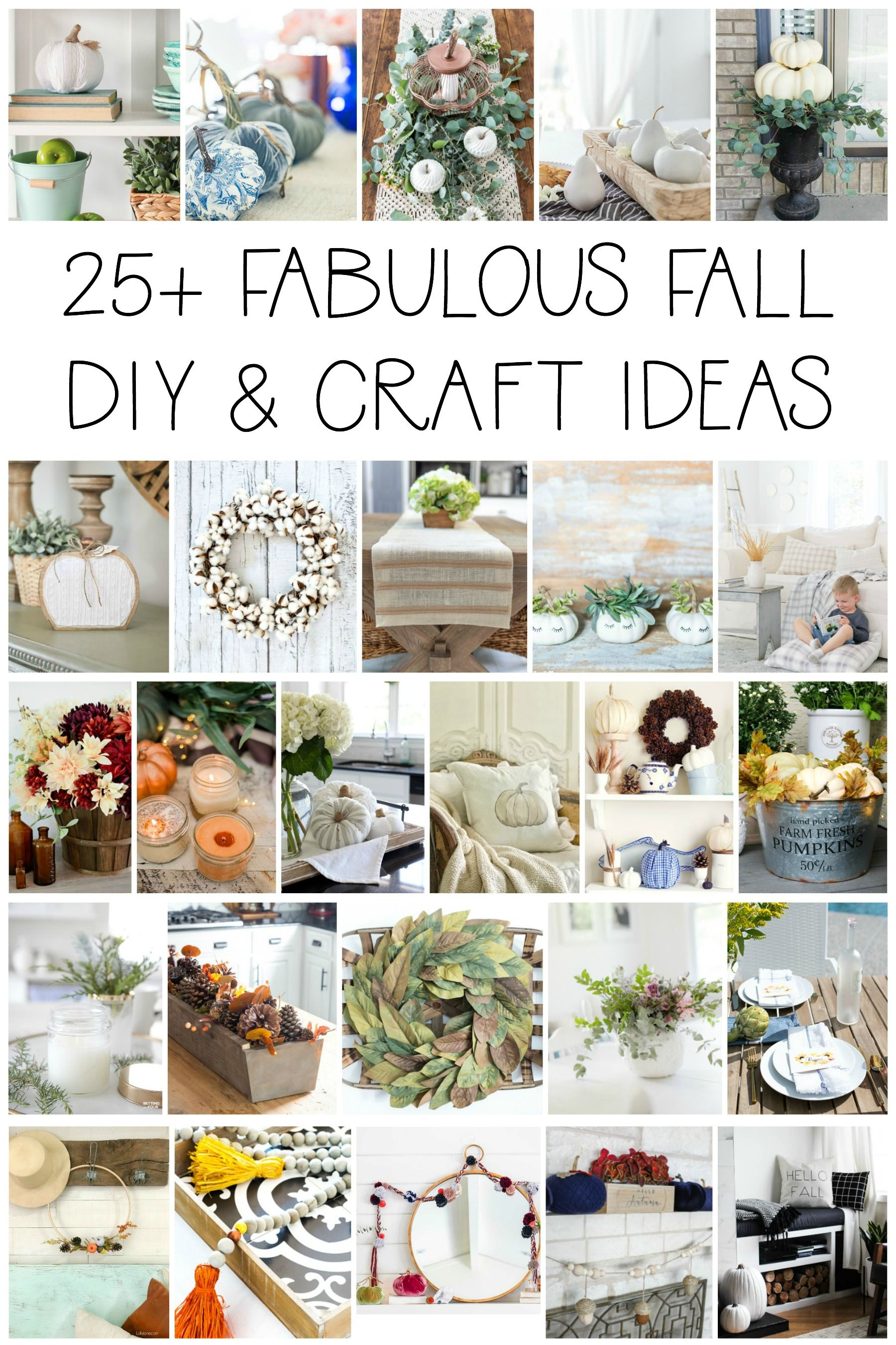 25 fabulous fall DIY and craft ideas. This blog hop features some of ...