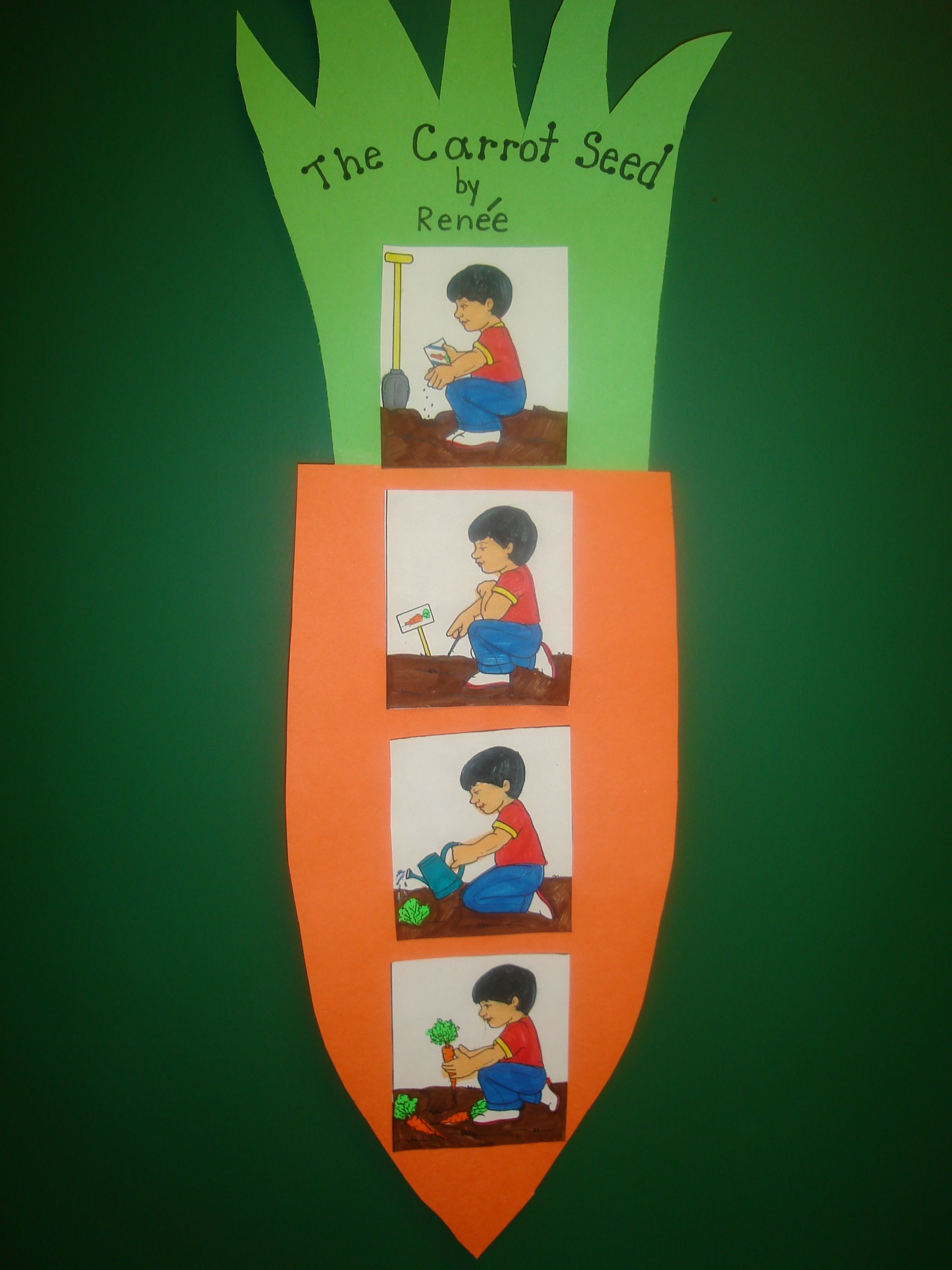 Plant Unit; Book, The Carrot Seed by Ruth Krauss and story extension ...