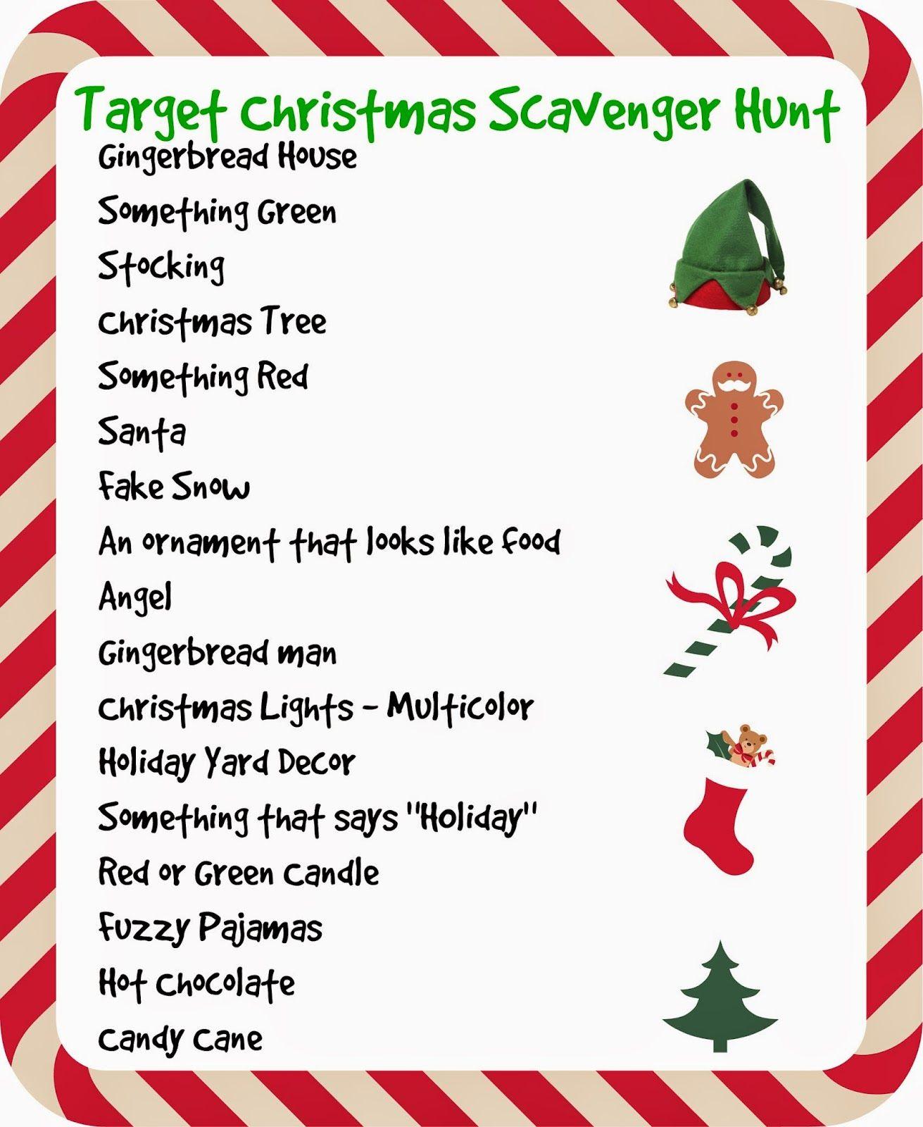 Target Store Christmas Scavenger Hunt Christmas Lights I Spy Links