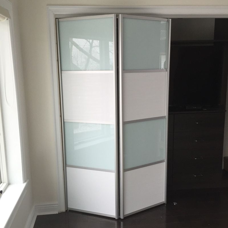 BFD-07 Wenge/White Obscure Glass Single Bi-Fold Door For Sale ...