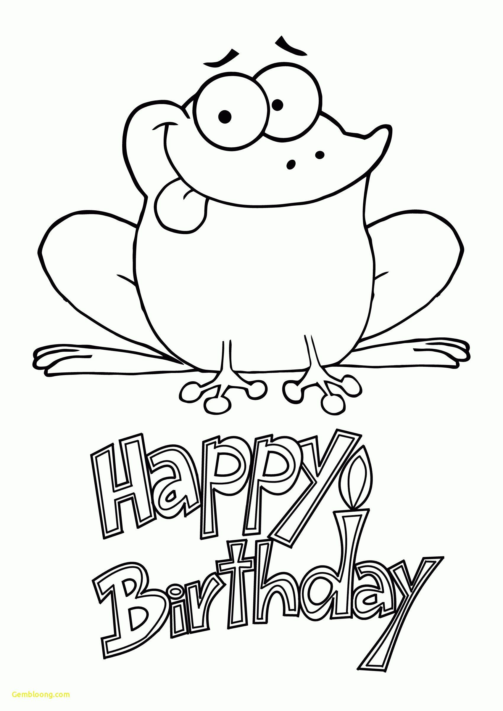 Birthday Coloring Pages for Kids Coloring Pages Happy ...