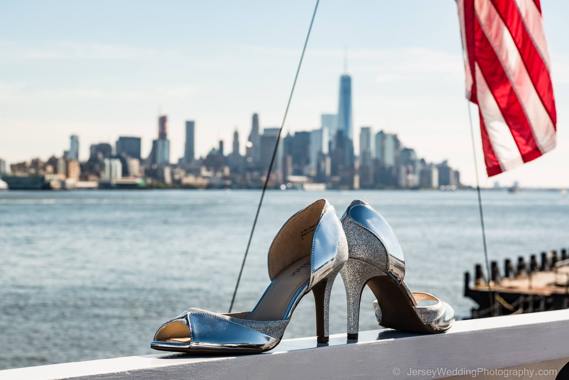 Donna's shoes on the stern of the yacht she was married on --The Royal Princess. #wedding #weddingPhotographer #weddingphotographer #yachtwedding #Bridalshoes