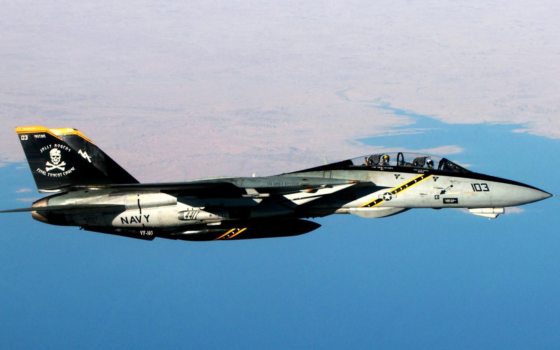 F 14 Tomcat Jolly Rogers Wallpaper Fighter Jets Military Aircraft Aircraft