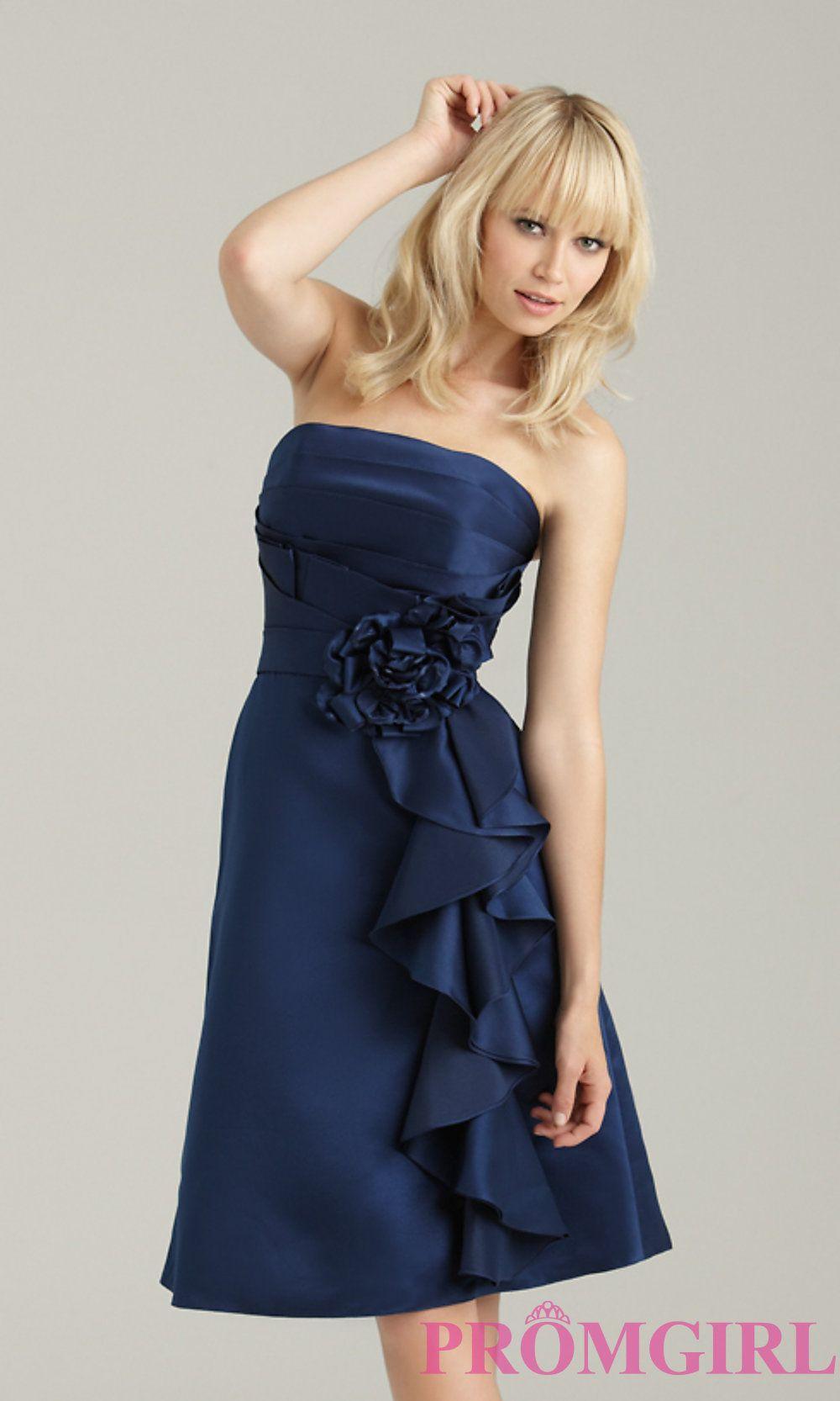 Short Strapless Ruffled Bridesmaid DressNM-1335  923e5b10824