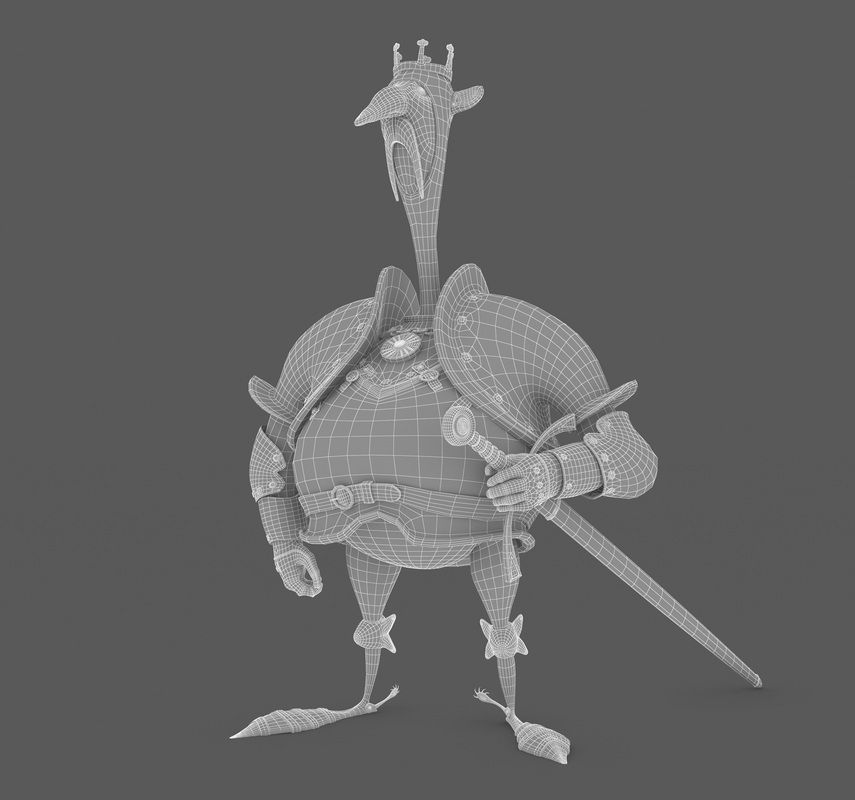 THE KNIGHT -- Wireframe -- Design by Denis Zilber  http://www.jmlinares.com