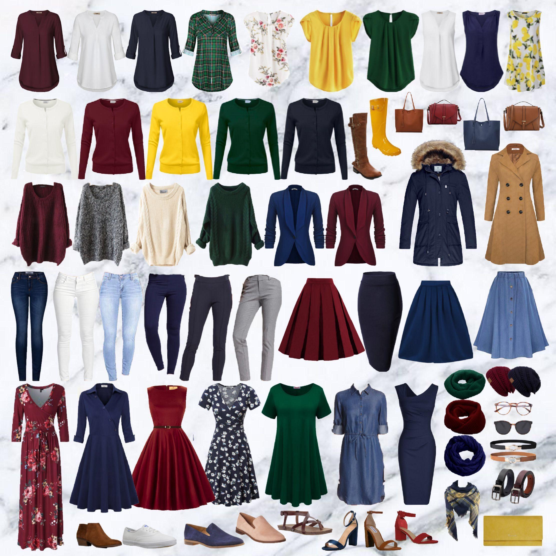 Resultado de imagen de colorful capsule wardrobe