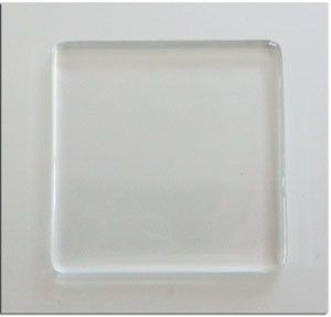 10 Pack Clear Glass 1 Inch Flat Smooth Squares For Jewelry Making