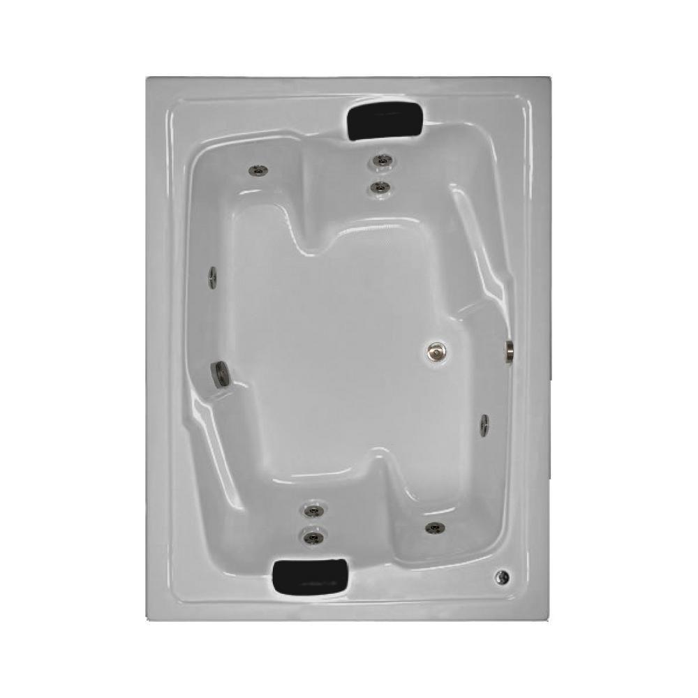 Comfortflo 72 In Acrylic Rectangular Drop In Whirlpool Bathtub In White W7254 White Whirlpool Bathtub Bathtub Bathtub Remodel