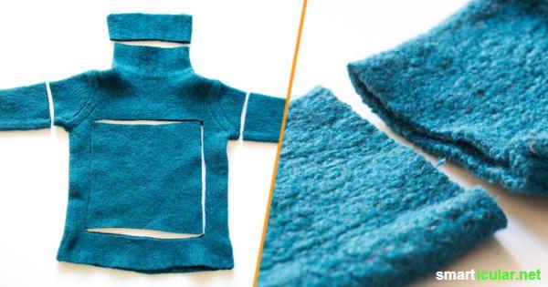 zu schade f r den m ll n tzliches aus eingelaufenen wollpullis pinterest praktisch dinge. Black Bedroom Furniture Sets. Home Design Ideas