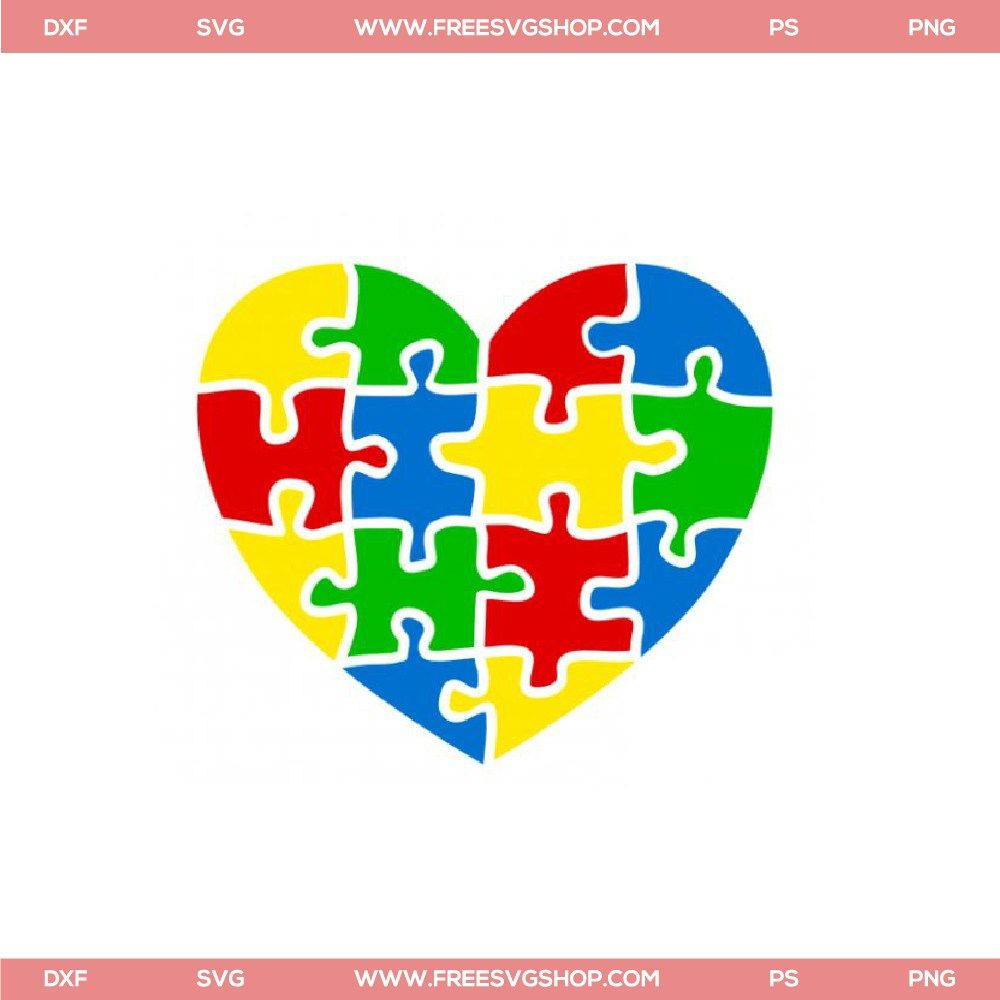 47e2d23fbcf Free Be Kind SVG Cut File | circuit | Cutting files, Autism puzzle ...