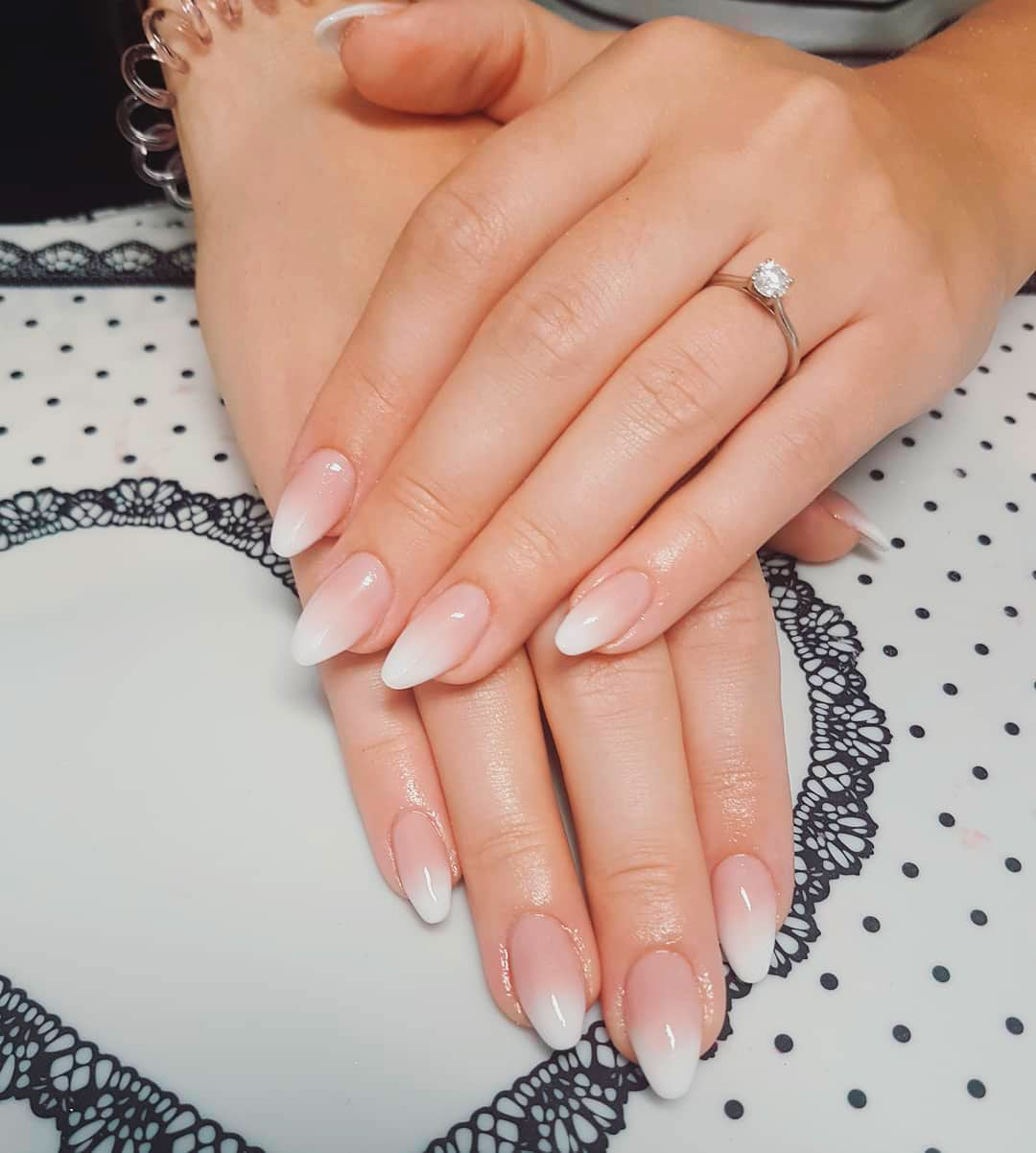 9 Stunning Modern French Manicure Ideas Stylish Belles Almond Acrylic Nails Short Acrylic Nails Ombre Nail Designs