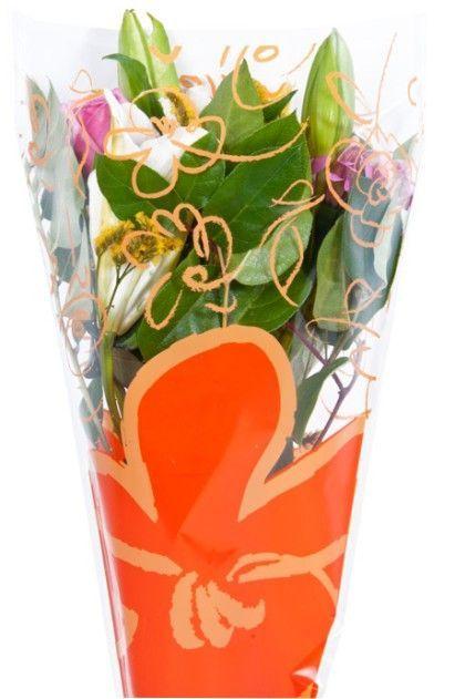 Flower Bouquet Printed Plastic Sleeve Bag 1000 Unit Case 13x17x4