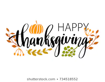 Hand Drawn Happy Thanksgiving Typography Poster Stock Vector