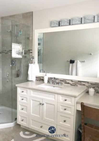 Paint Colour Review Benjamin Moore Ballet White White Vanity Bathroom Bathroom Vanity Bathroom Colors