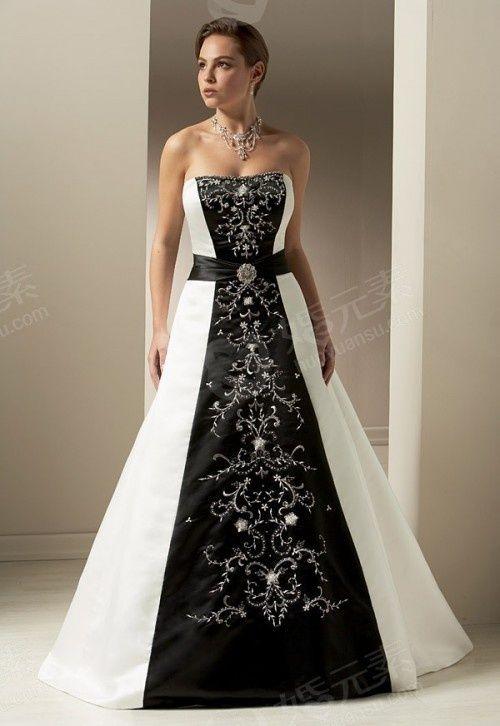 Black White Wedding Dresses | Wedding Dress Styles | Wedding ...