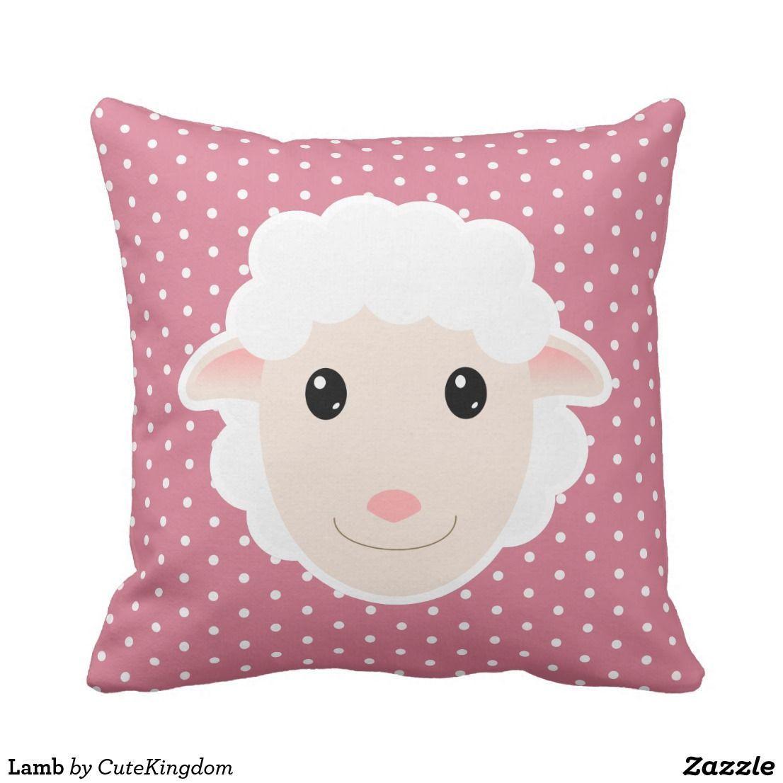 Lamb Cushion Zazzle.co.uk Cute lamb, Lamb, Cushions