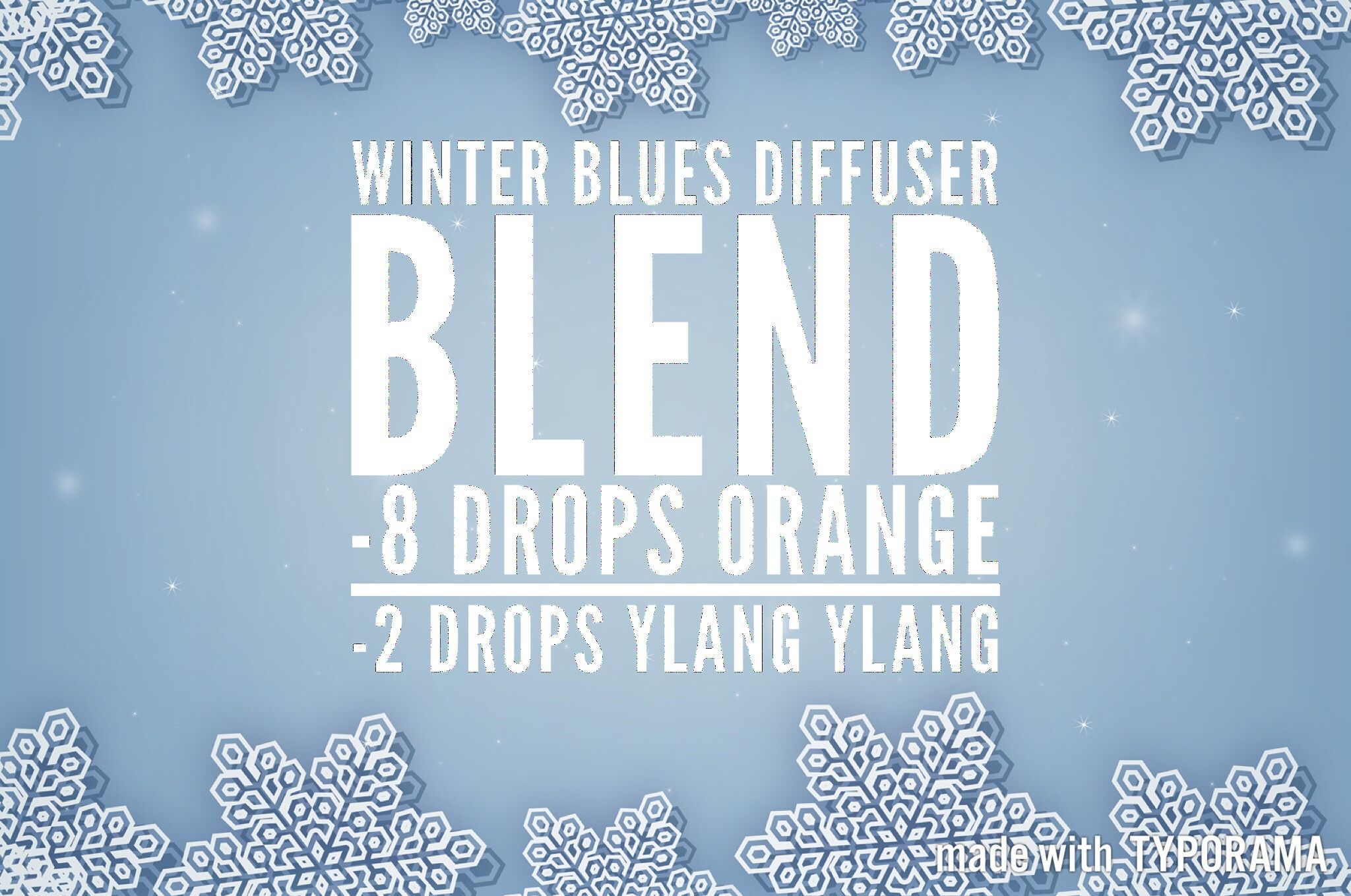 Winter Blues Diffuser Blend – Traveling Hippies #winterdiffuserblends