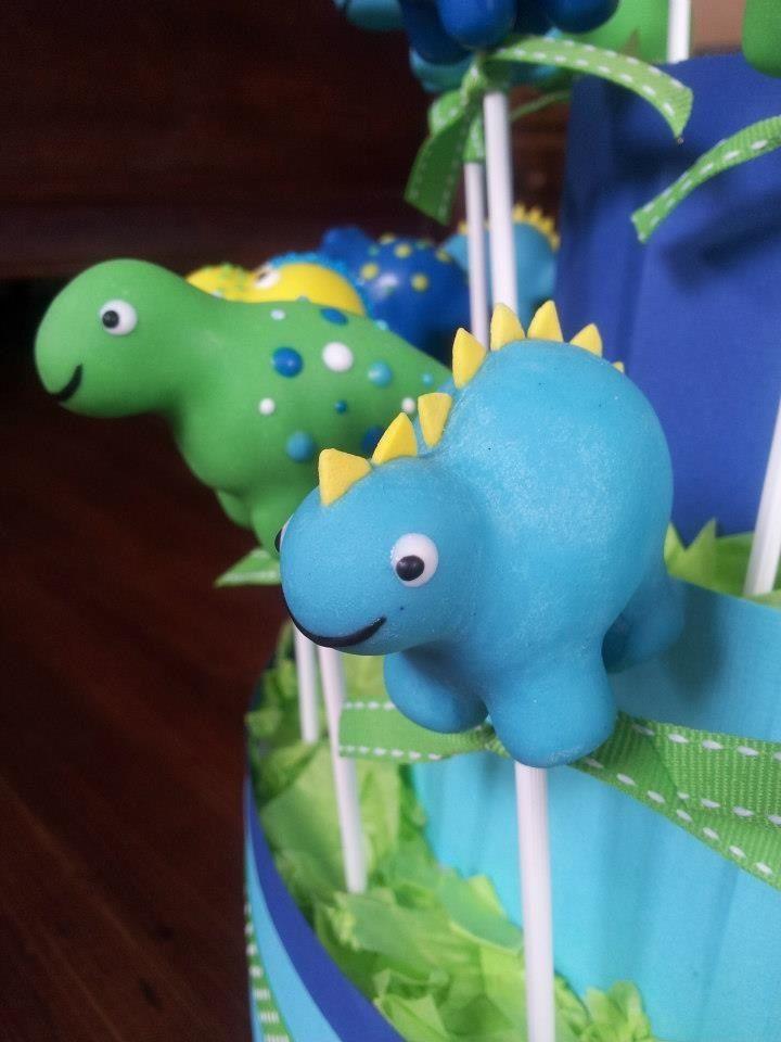Dinosaur Cake Pops Dinosaur Cake Pop Dinosaur Cake Pops