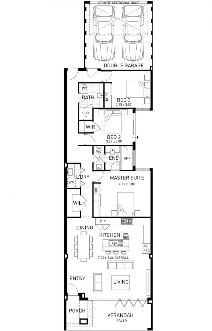beach house, single storey home design floor plan, wa | floor