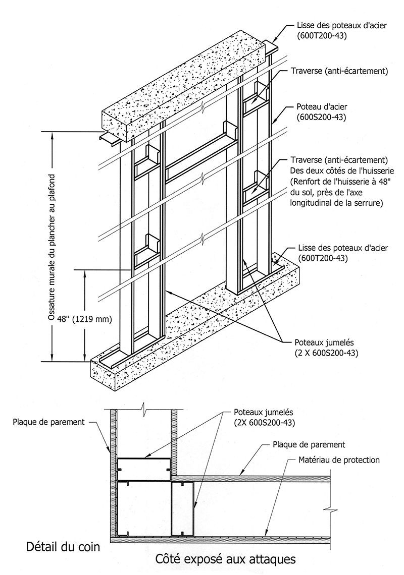 coupe porte mur ossature bois recherche google archi. Black Bedroom Furniture Sets. Home Design Ideas